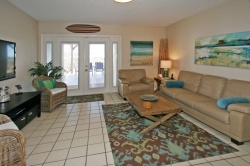 Comfortable Living Area with Coastal Cool Furnishings!