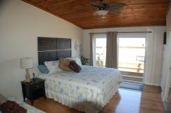 Master Bedroom with King Bed Opens onto Oceanfront Panoramic Deck!