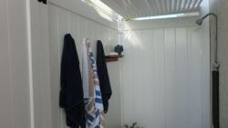 Wonderful  Private Shower with Hot and Cold Water to Wash Off the Sand!